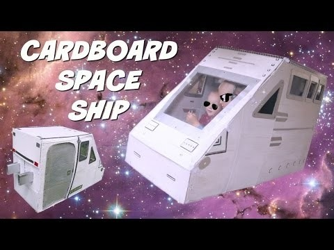 DIY Cardboard spaceship | Kids toys | Playhouse | DIY life hacks