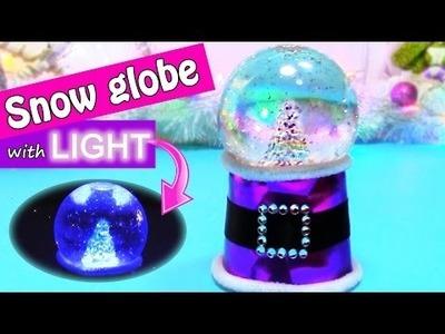 DIY Christmas crafts: SNOW GLOBE with LIGHT - Innova crafts