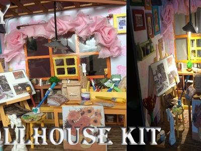 DIY DollHouse Cute Miniature Kit.Craftroom.Paintshop
