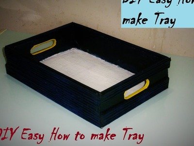 DIY Easy | How to make Tray. Organizer | Made with Cardboard |