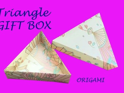 ???? DIY easy origami gift box ???? very cool | Step by step instruction for beginner