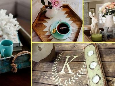 ❤ DIY Farmhouse style wooden rustic tray decor ideas- home decor and organisation 2017❤