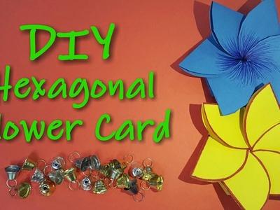 DIY Hexagonal Flower Card   Sanjana Khandelwal