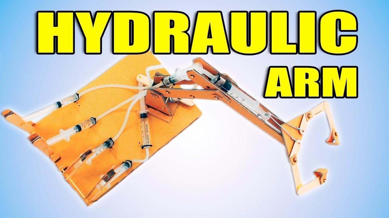 Hydraulic Powered Arm : Diy hydraulic powered robotic arm from cardboard