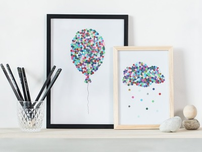 DIY : Illustrations with hole puncher by Søstrene Grene