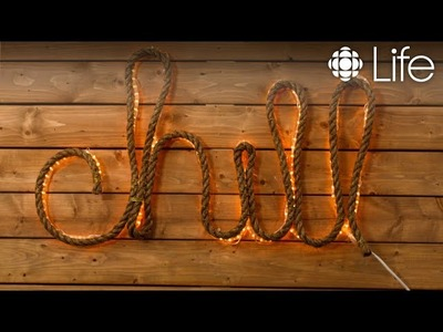 DIY Light-Up Rope Sign for your Cottage or Patio | CBC Life