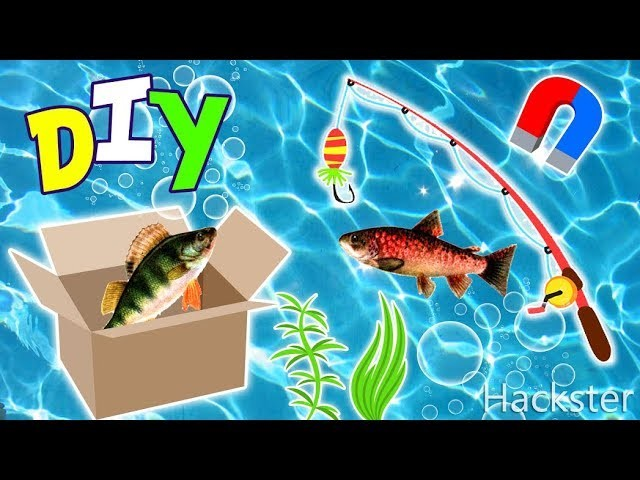 Diy magnetic fishing game in a box how to make an easy for Easy fishing games