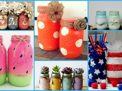 ❣DIY Mason Jars Crafts Ideas.DIY summer Room Decoration Ideas -recycle Jar Projects❣