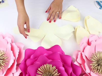 DIY Paper Flower Backdrop | Spring Colors | Template #14 FULL VIDEO