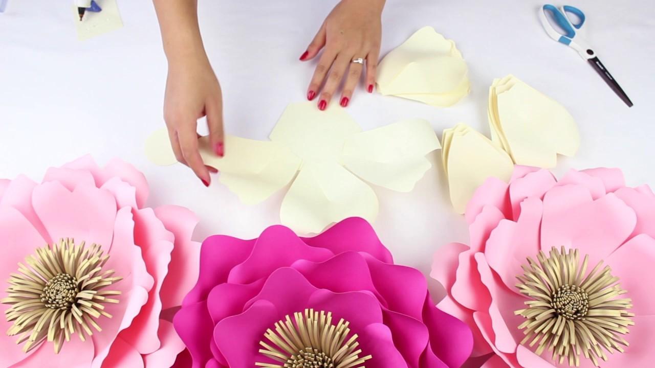diy paper flower backdrop  spring colors  template  14