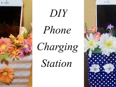 DIY Phone Charging Station And Phone Holder | Simple Living Wise Thinking