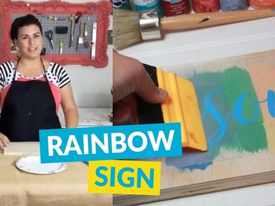 DIY Rainbow Word Art Sign
