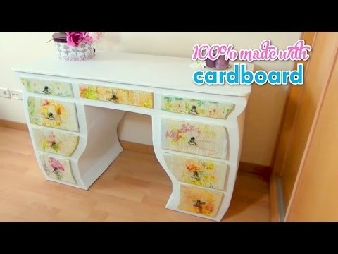 Diy room decor recycled furniture made with cardboard for Recycled room decoration crafts
