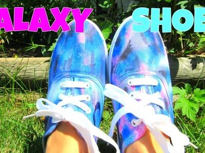 DIY Sharpie Tie Dye  Galaxy Shoes!