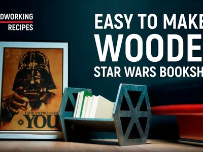 DIY Star Wars TIE Fighter wooden bookshelf