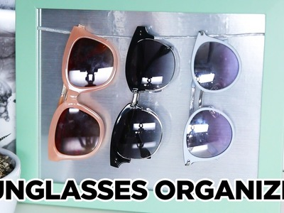 DIY Sunglasses Organizer