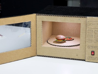DIY Toy Microwave Oven at Home