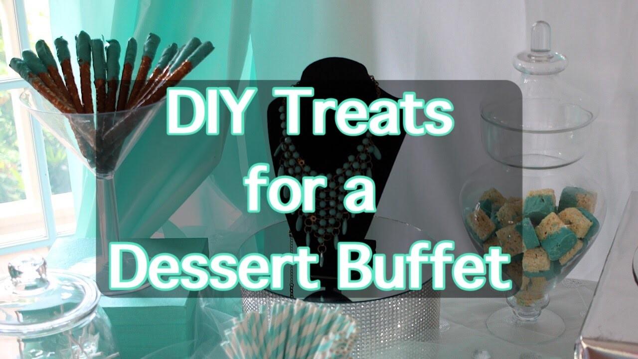 DIY Treats for a Dessert.Candy Bar