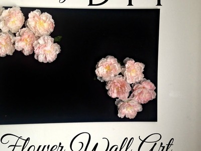 DIY Wall Decor (EASY) | Decorating Ideas for Teens Room.Girls Room etc. | Flower Wall Art