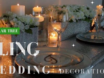 DIY WEDDING DECORATIONS | DOLLAR TREE BLING CENTERPIECE