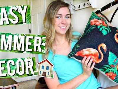 EASY DIY Summer Room Decor! 2017