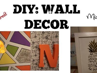 Fast & Easy DIY Wall decor