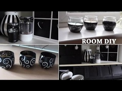 Gold room decorations Black and White DIY Room!