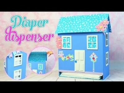 House Diaper dispenser DIY  made with cardboard boxes - Isa ❤️