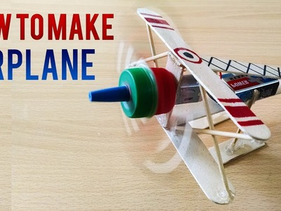 How To Make Airplane with Popsicle Sticks DIY Airplane Simple Life Hacks