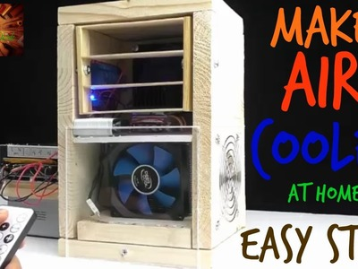 How to Make Mini Air Cooler with Remote Controlled DIY For Summer  - Creative Work