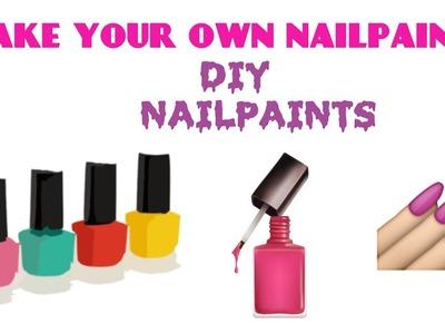 Make your own nailpaints at home ????  DIY Nailpaint. Nail polish