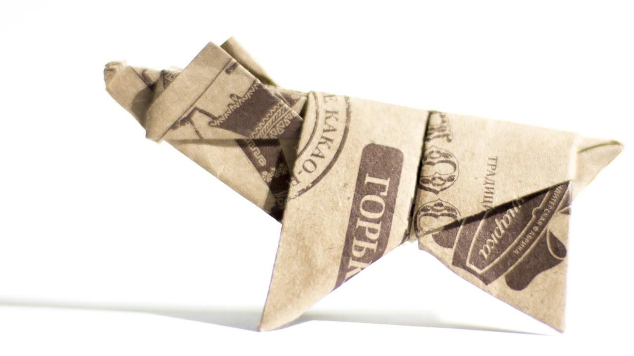 origami bear diy chocolate wrapper bear