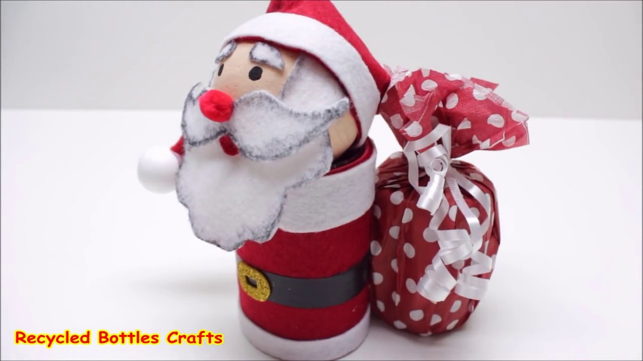 Recycled crafts ideas diy santa christmas gifts plastic for Diy recycled art