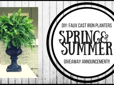 SPRING & SUMMER OUTDOOR DIY | GIVEAWAY ANNOUNCEMENT