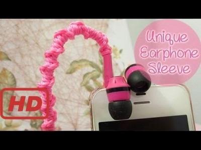 [Sunny Lin] Easy Earphone Sleeve. Wrap | Sunny Diy