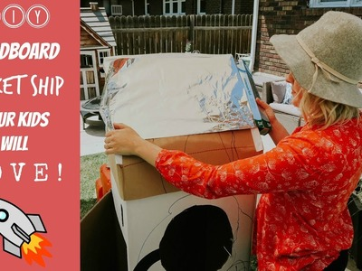 Super Easy DIY Crafts Cardboard Box Rocket Ship! ????