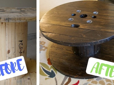 Transformation! Coffee table made out of a GIANT Spool (DIY)