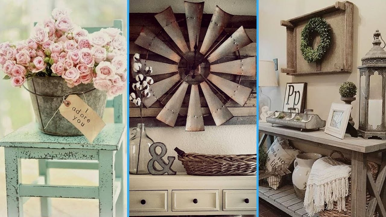 Vintage rustic shabby chic diy room decor ideas for Decoration items made at home