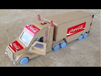 WOW! Amazing Coca - Cola Truck Container DIY at Home - How to Make Truck Using Smart Phone Battery