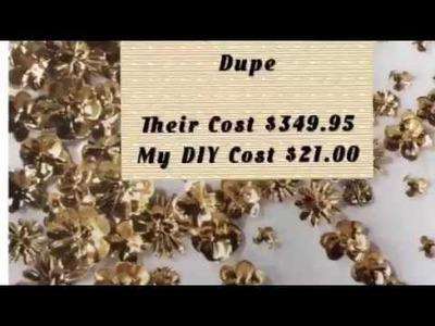 ZGallerie Gold Flora Dupe   High End DIY