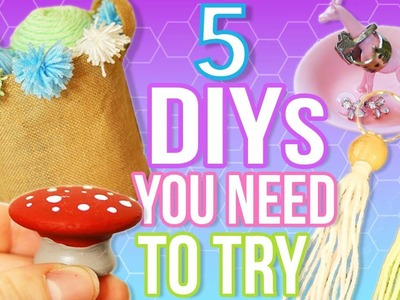 5 DIYS TO DO WHEN YOU ARE BORED! Quick and Easy DIY Ideas!