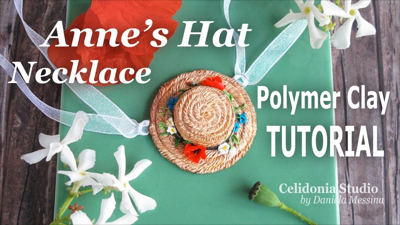 Anne of green gables inspired miniature hat polymer clay for Anne of green gables crafts
