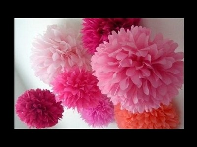 Anozoi How to make pom pom flower with crepe paper in just  2mins