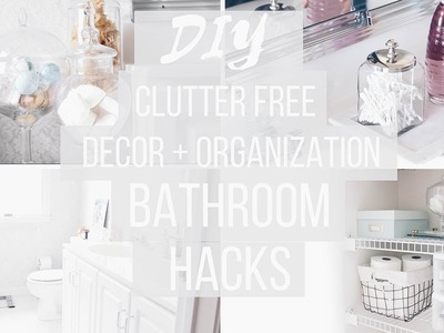 Bathroom Organization + DIY Decor    Budget Friendly   Anthropologie + Pinterest Inspired