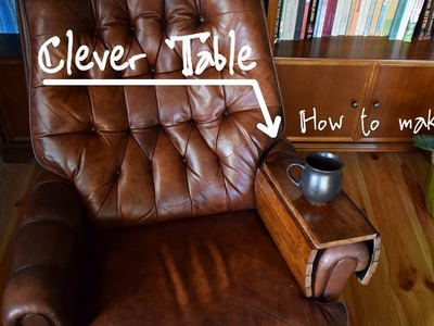 Clever table for armchair, couch and other furniture - fast, simple DIY project