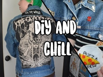 Create And Chill | DIY Pizza Patch + Custom Denim Jacket