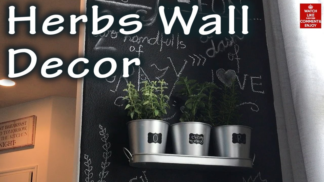 Diy Wall Decor Chalkboard : Decor diy chalkboard herbs wall my crafts and projects