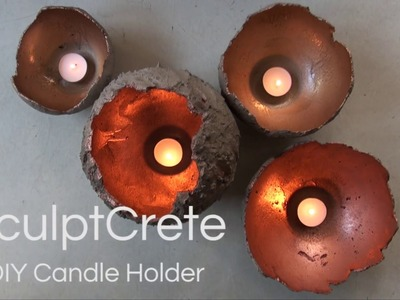 DIY Candle holder | How-to video with Cemcrete