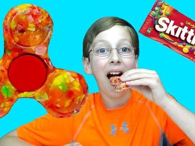 DIY Candy Fidget Spinner YOU CAN EAT!! Rare Edible Skittles Fidget Spinners Toys & Tricks | COLLINTV