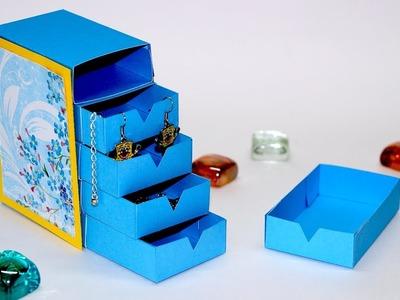 DIY desk organizer | How To Make drawers with cardboard | DIY room decor ideas | Julia DIY